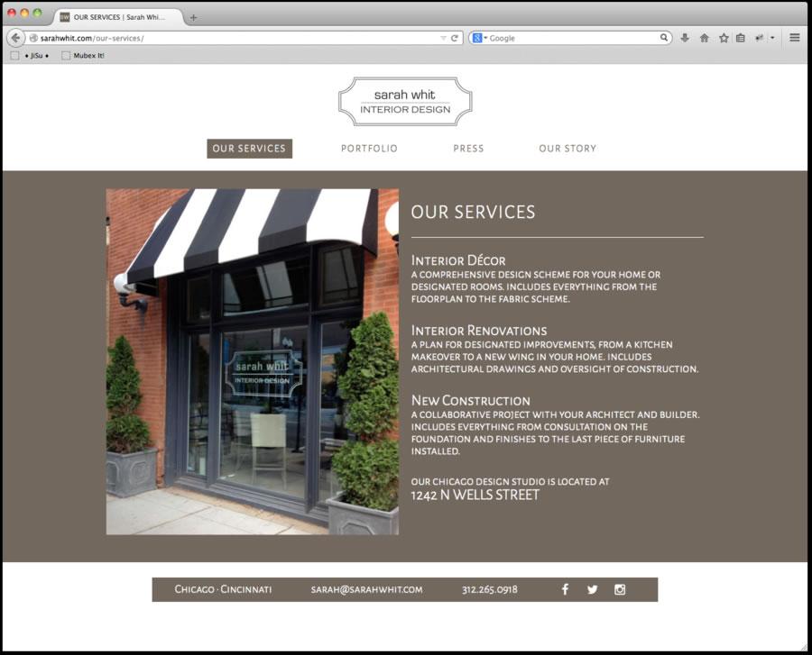 Sarah Whit Website Design2