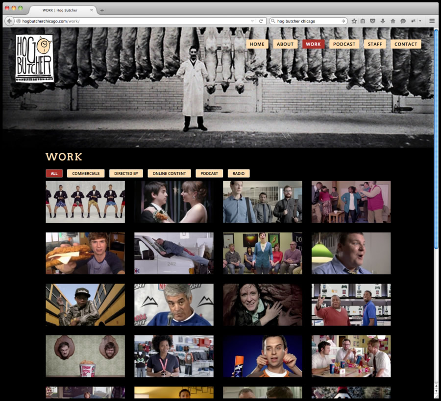 Hog Butcher Website Design 3