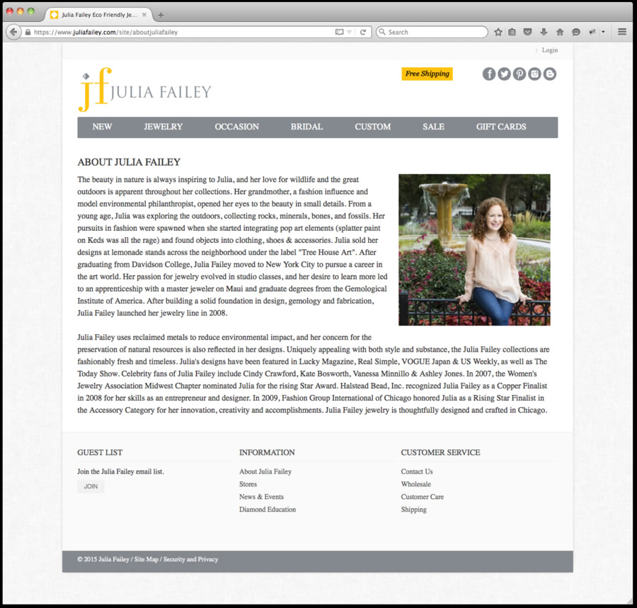 julia failey website design #5