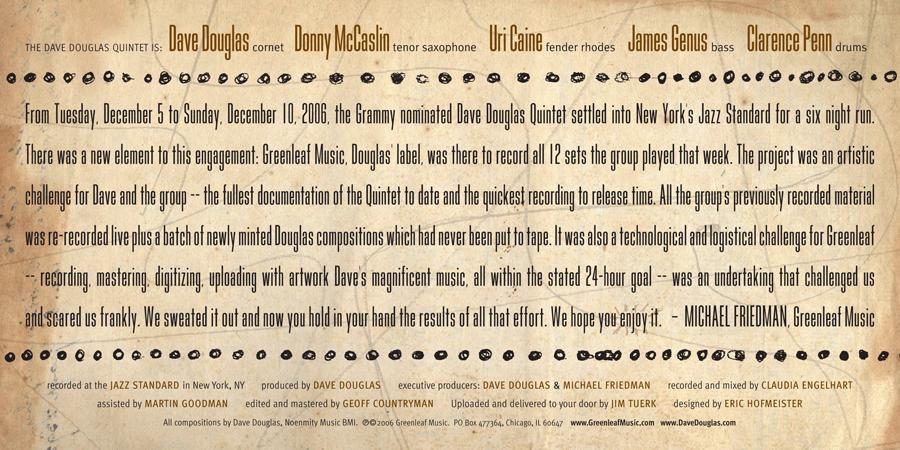 Dave Douglas CD Design #3