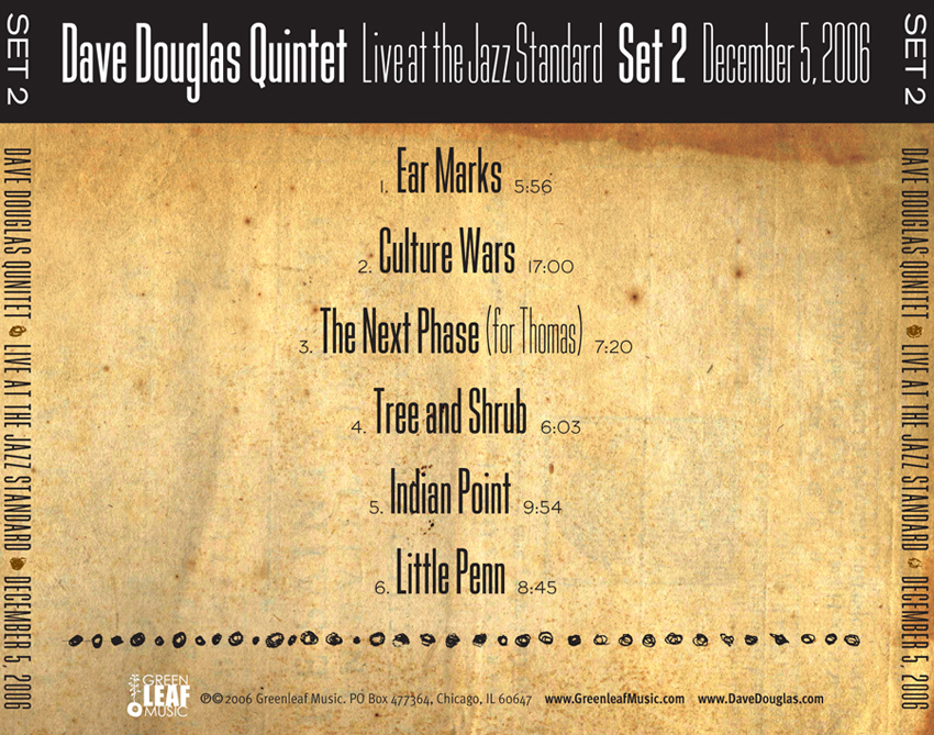 Dave Douglas CD Design #4
