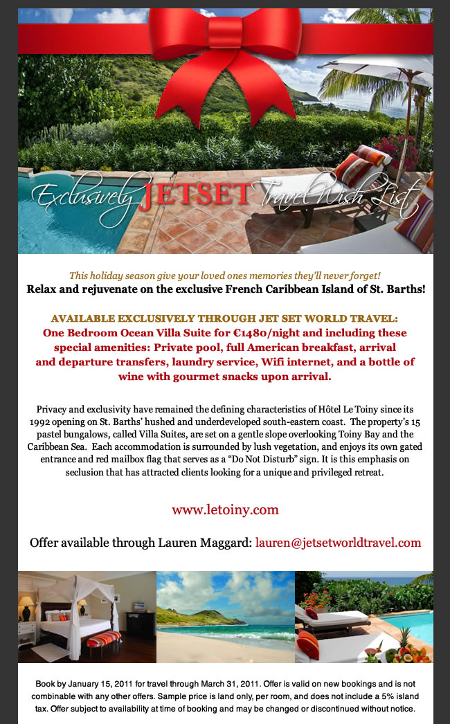 Jet Set World Travel Holiday Email Marketing 4