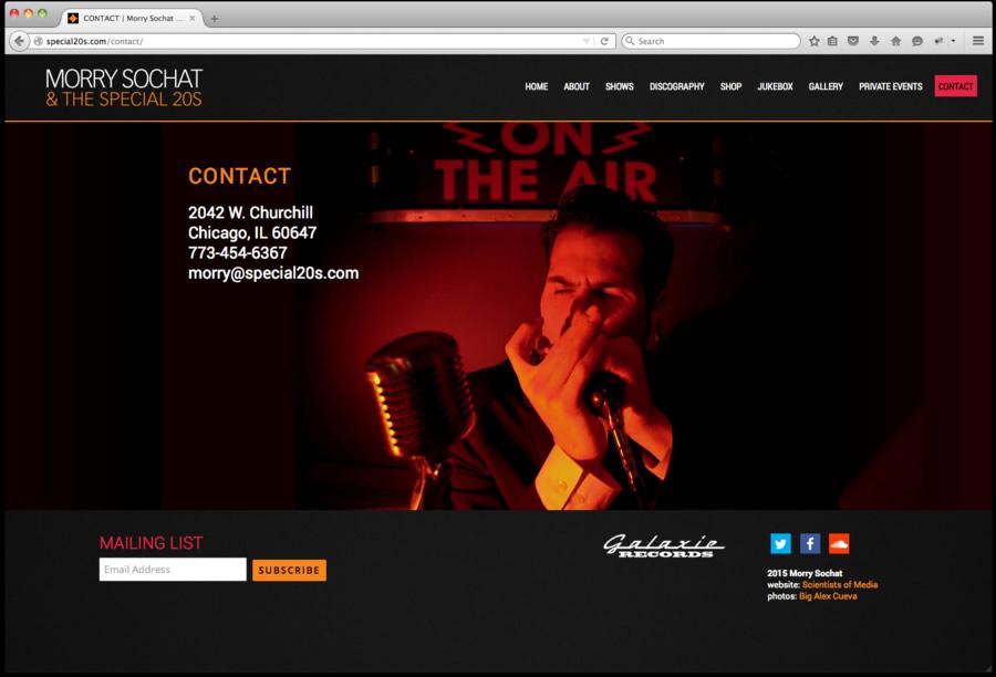 Special 20s Website Design 5