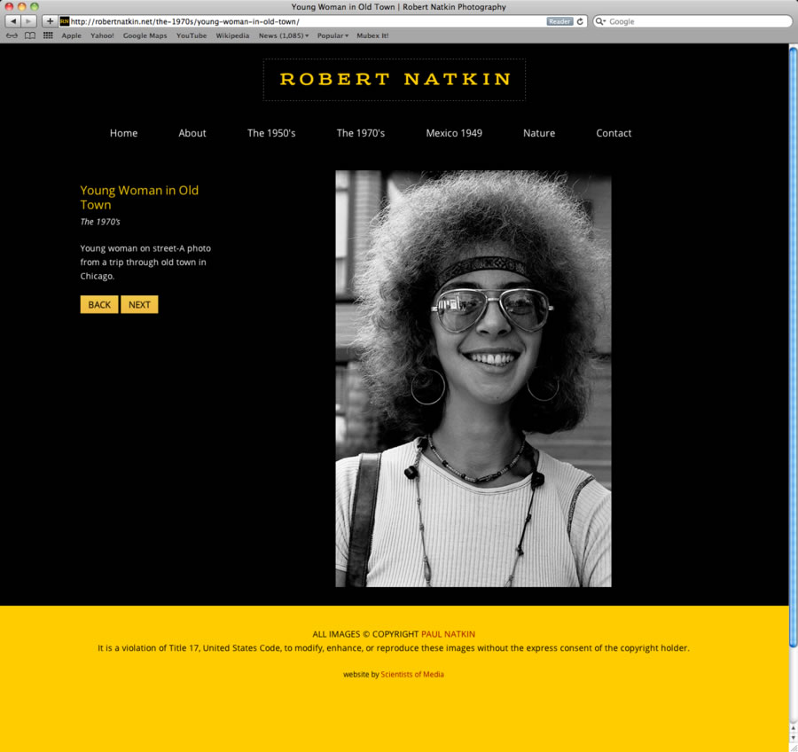 Robert Natkin WordPress Website #3