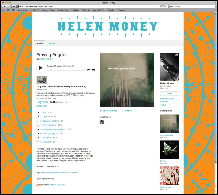 Helen Money Bandcamp Account Set Up
