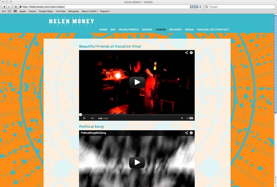 Helen Money Website #3