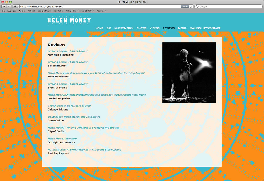 Helen Money Website #4