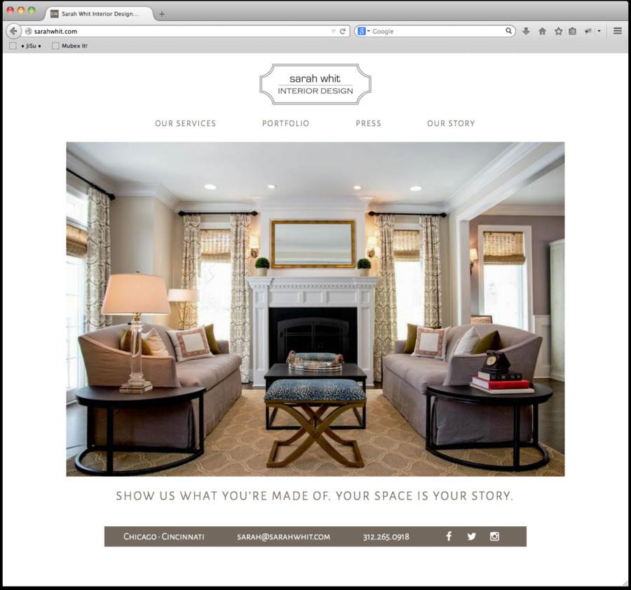 Sarah Whit Website Design 1