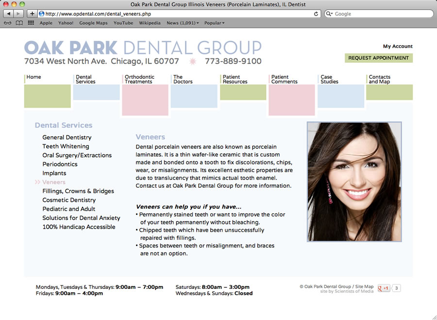 Oak Park Dental Website #2