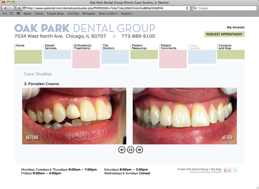 Oak Park Dental Website #3