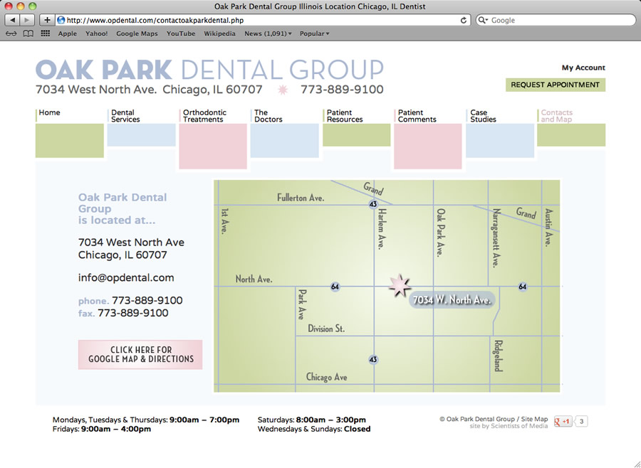 Oak Park Dental Website #4