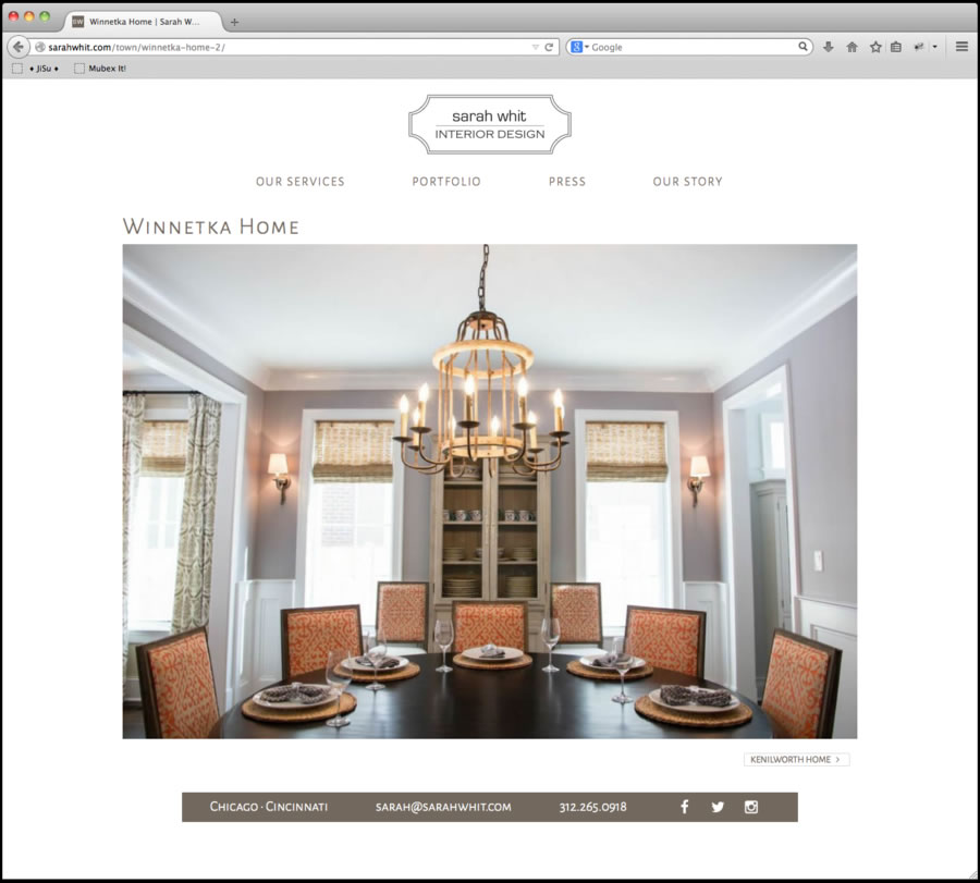 Sarah Whit Website Design 4