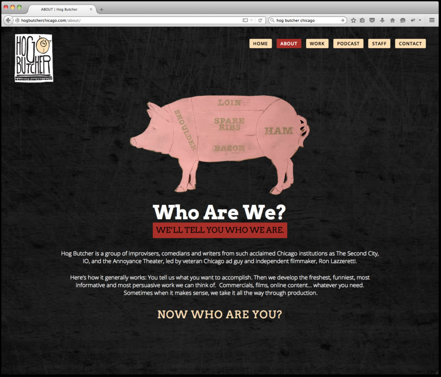 Hog Butcher Website Design 2