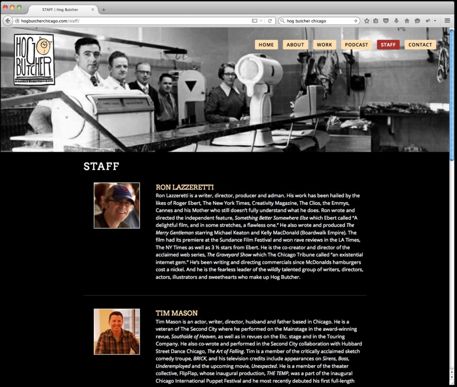 Hog Butcher Website Design 4