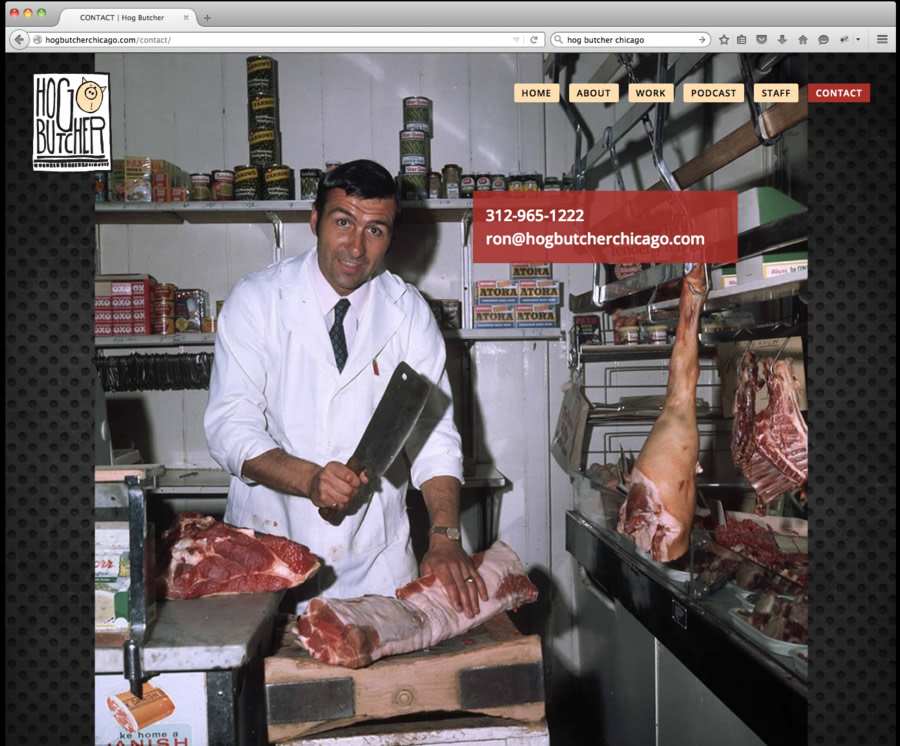 Hog Butcher Website Design 5