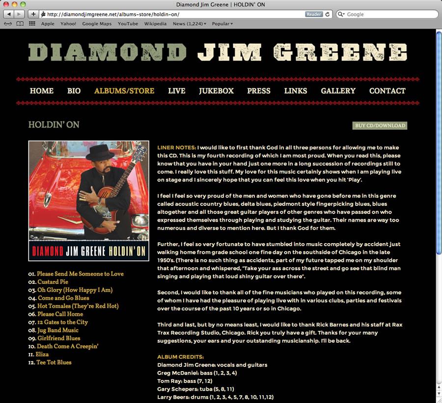 Diamond Jim WordPress Design #3