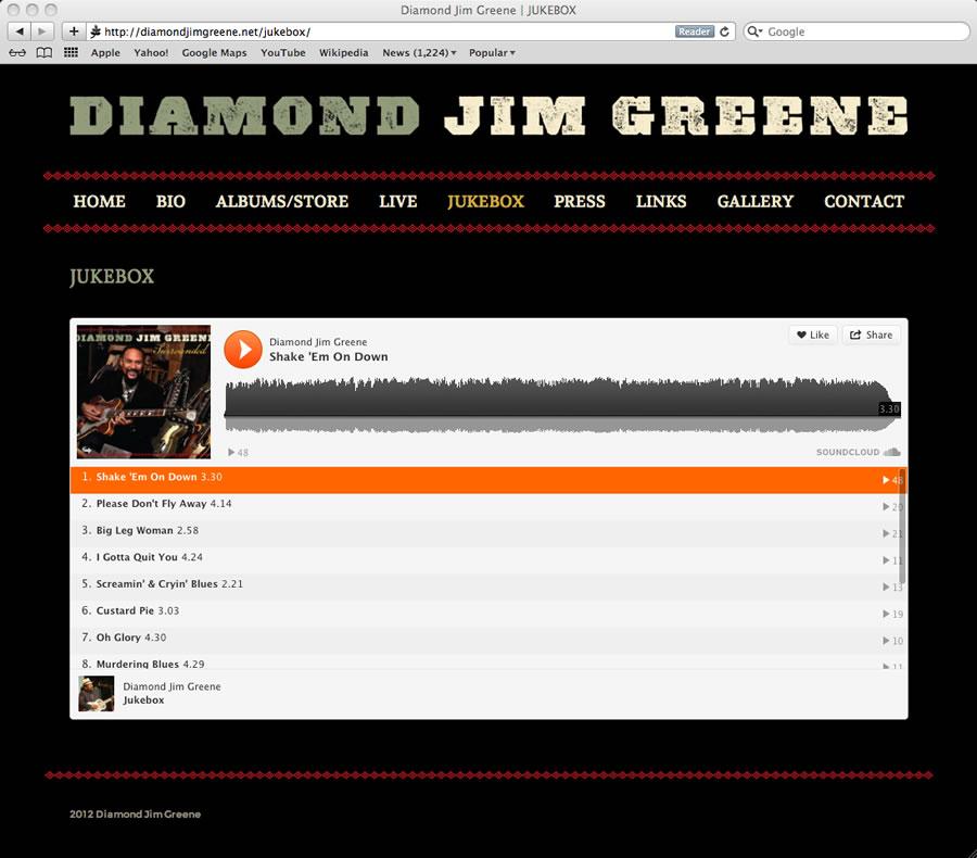 Diamond Jim WordPress Design #4