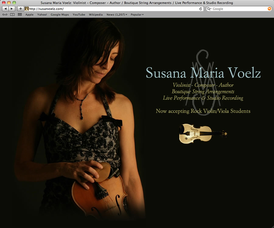 Susan Voelz Website Design & Programming #1