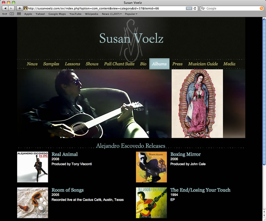 Susan Voelz Website Design & Programming #4