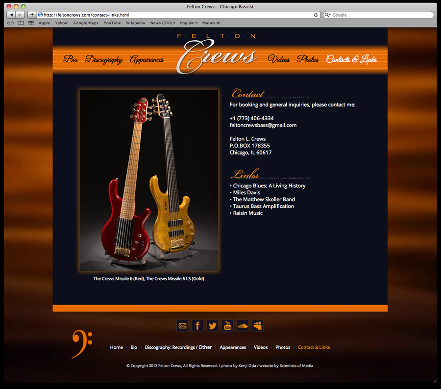 Felton Crews Website Design 5