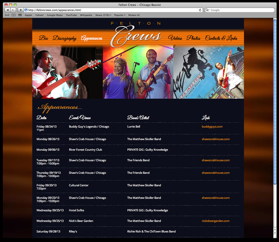 Felton Crews Website Design 4