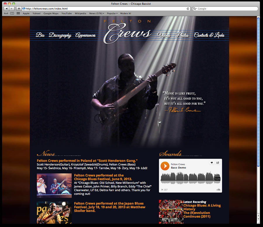 Felton Crews Website Design 1
