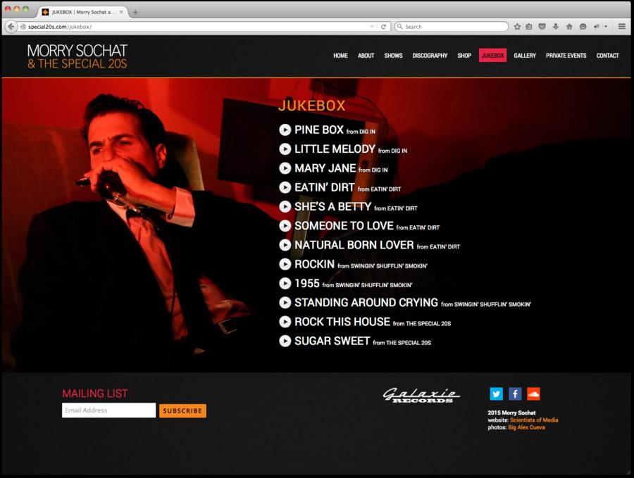 Special 20s Website Design 2