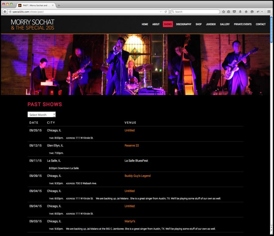 Special 20s Website Design 3