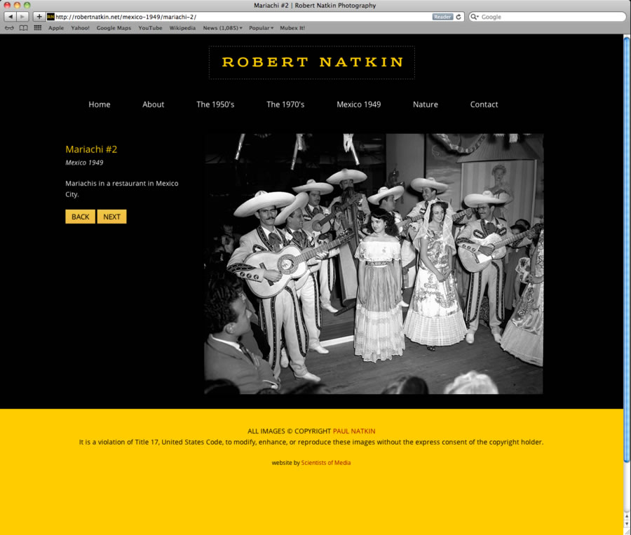 Robert Natkin WordPress Website #2