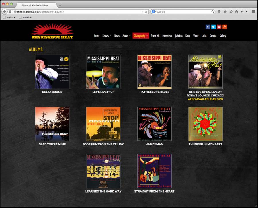 Mississippi Heat Website Design 2