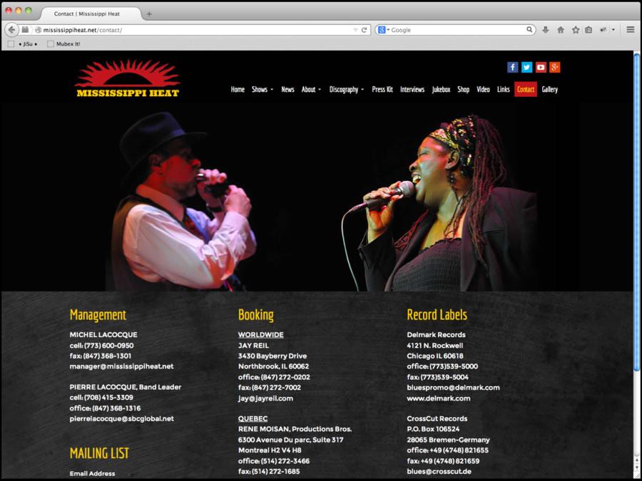 Mississippi Heat Website Design 6