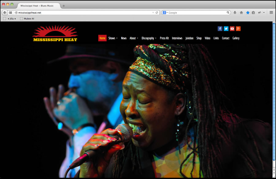 Mississippi Heat Website Design 1