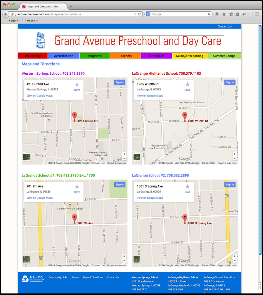 Grand Avenue Preschool Website 4