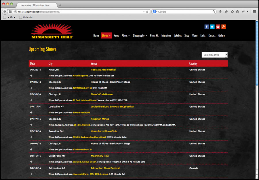 Mississippi Heat Website Design 4