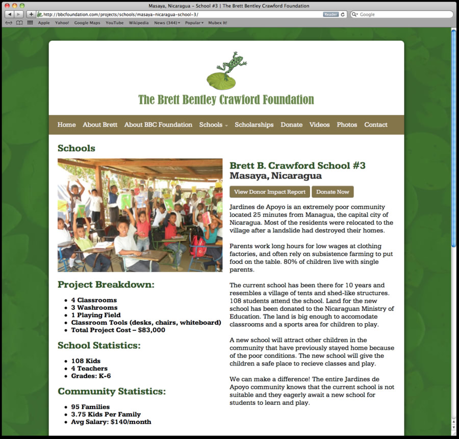 bbcfoundation website design