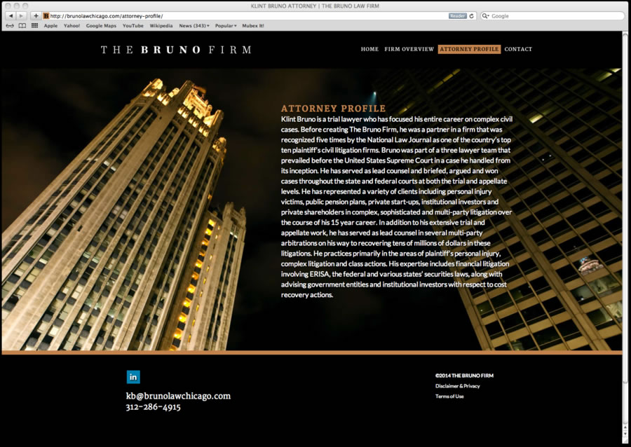 Bruno Law Firm Website Design 02