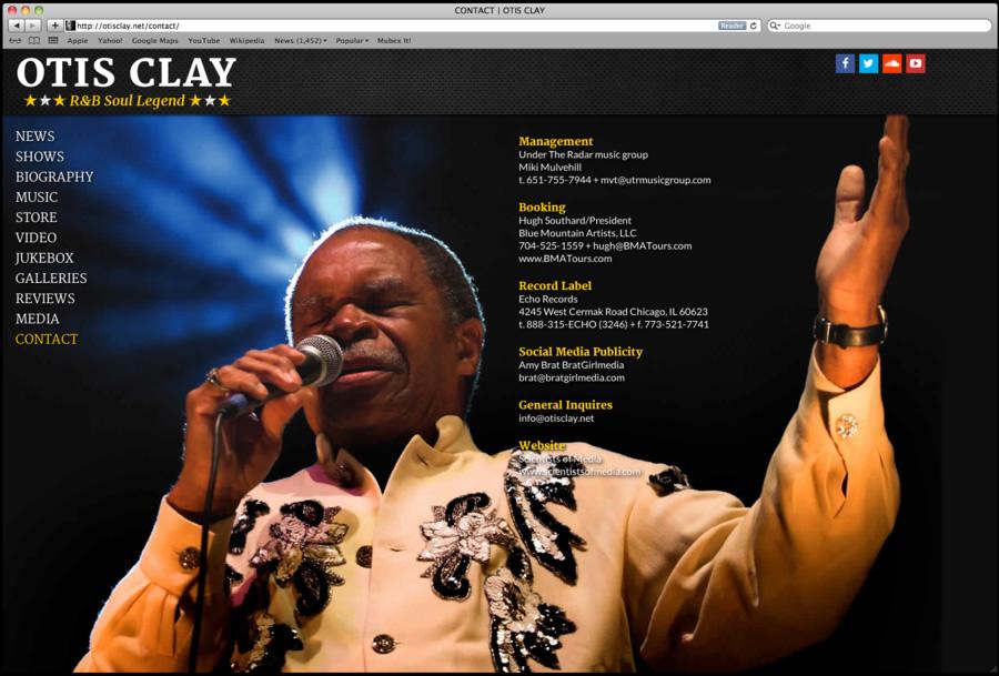 Otis Clay Website Design 04