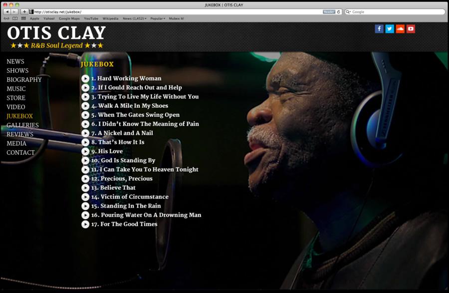 Otis Clay Website Design 06