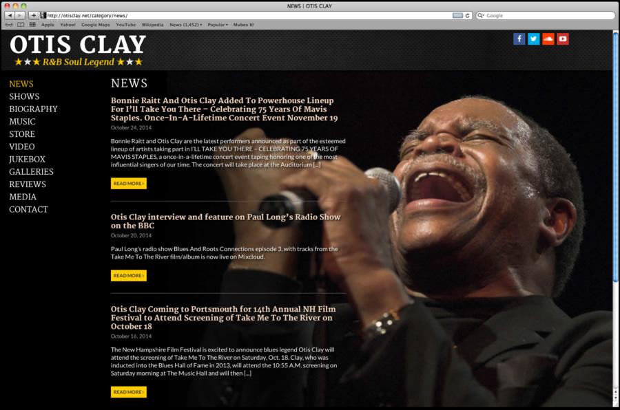 Otis Clay Website Design 03