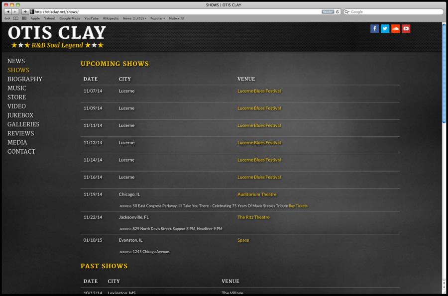 Otis Clay Website Design 07