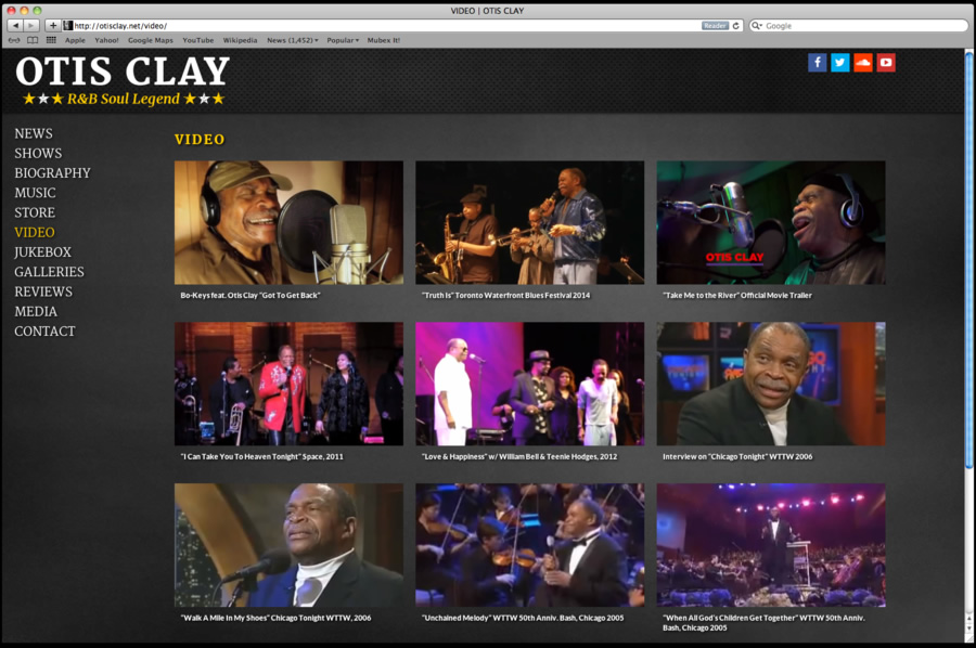 Otis Clay Website Design 05