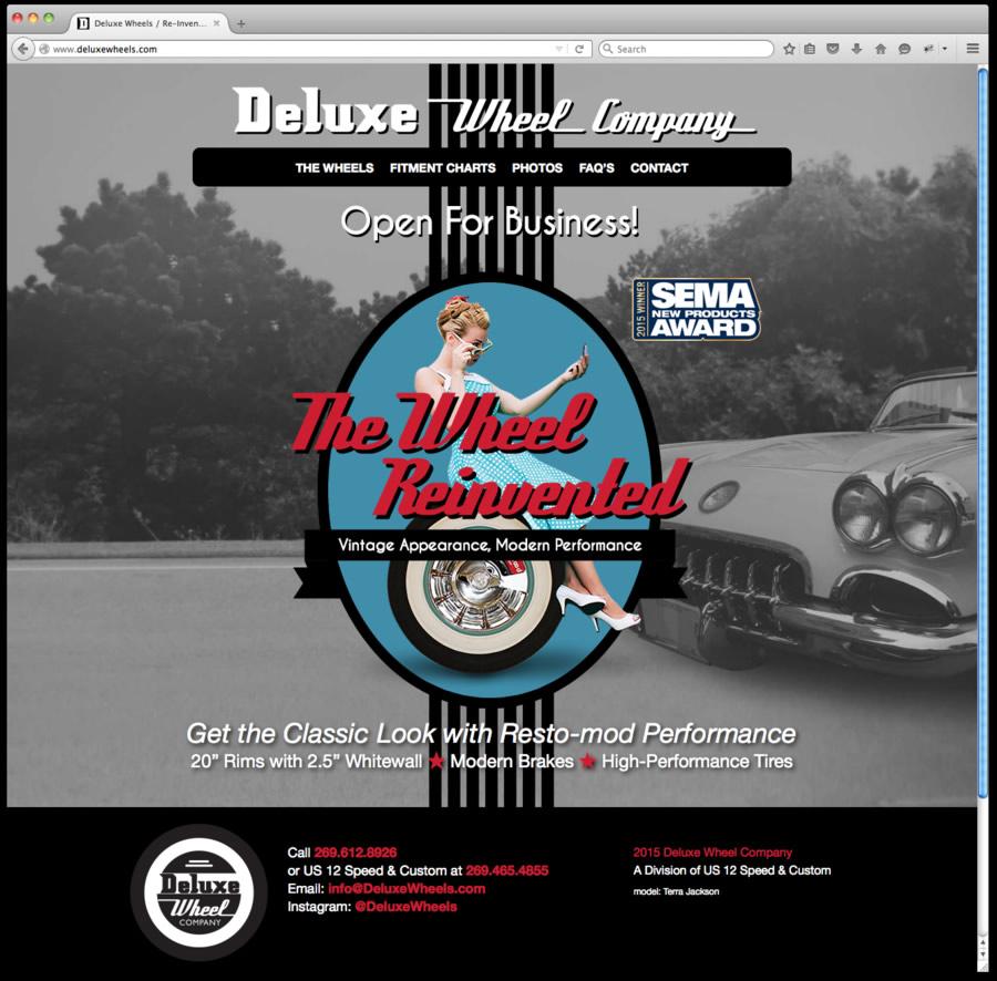 Deluxe Wheel Website Design and Programming 1