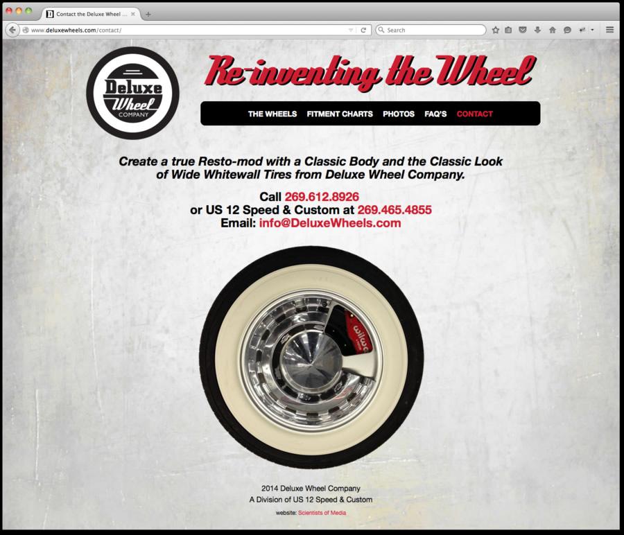 Deluxe Wheel Website Design and Programming 4