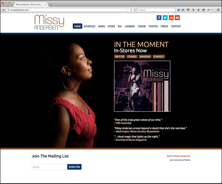 Missy Andersen Web Design 1