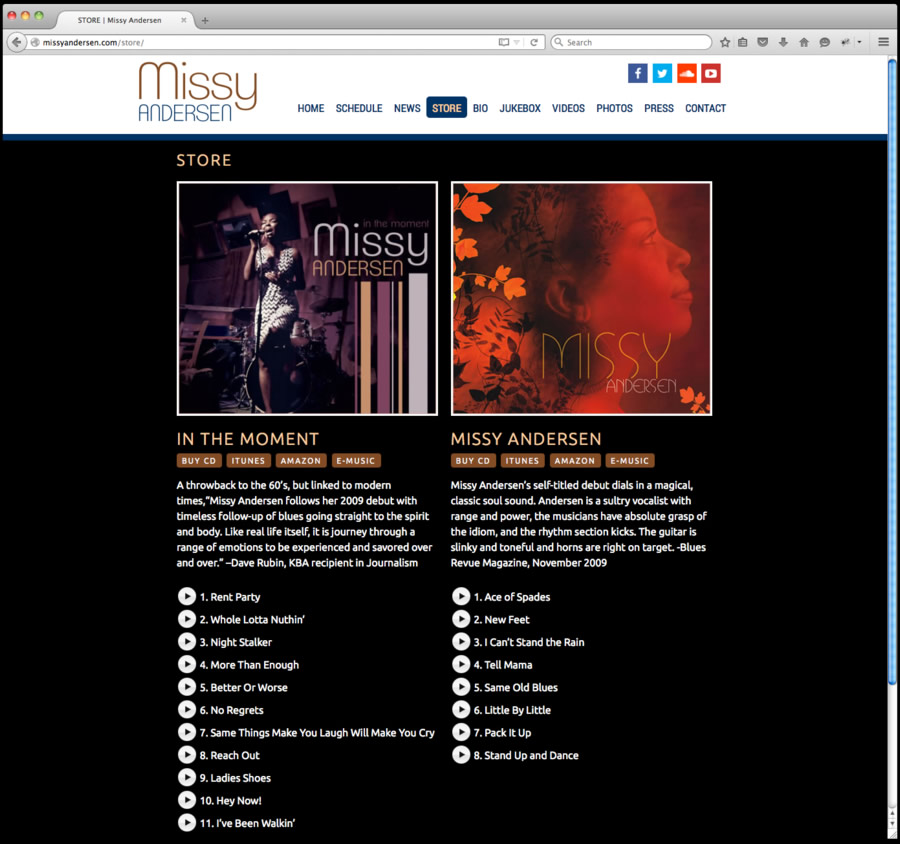 Missy Andersen Web Design 3