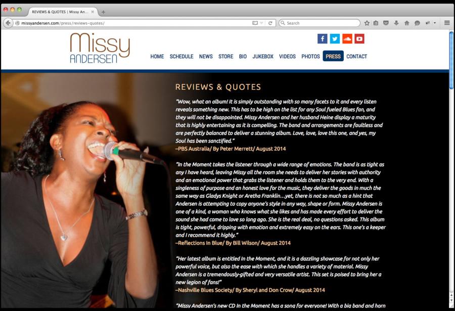 Missy Andersen Web Design 5